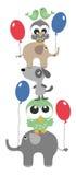 Vägggarnering eller lycklig födelsedag Arkivfoton