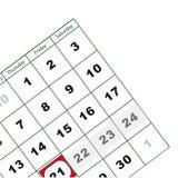 Väggkalender. Vektor Stock Illustrationer