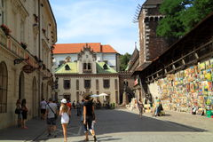 Väggkonst i Krakow i Polen Royaltyfri Bild