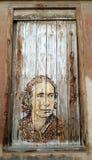 Väggkonst i Logroño i Spanien fotografering för bildbyråer