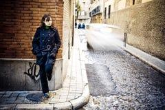 väggkvinna arkivfoton