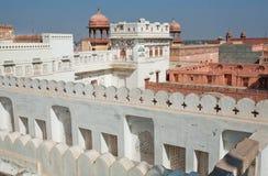 Vägglabyrint av det 16th århundradeJunagarh fortet Royaltyfria Foton
