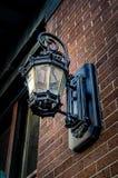 Vägglampa i New Orleans LA Arkivfoto