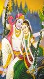 Väggmålarfärg av indiska gudar Fotografering för Bildbyråer