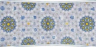 Väggmålning av den Kok Gumbaz moskén, Uzbekistan Royaltyfri Foto