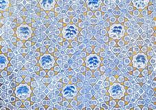 Väggmålning av den Kok Gumbaz moskén, Uzbekistan Arkivfoton