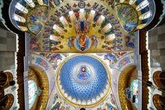 Väggmålning av den sjö- domkyrkan arkivbild
