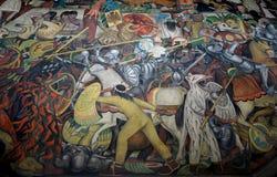 Väggmålning av Diego Rivera, Mexico royaltyfri bild