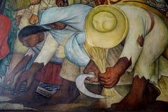Väggmålning av Diego Rivera, Mexico royaltyfria bilder