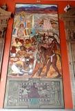 Väggmålning av Diego Rivera, Mexico Royaltyfri Fotografi
