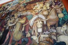 Väggmålning av Diego Rivera, Mexico Arkivfoton