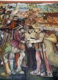 Väggmålning av Diego Rivera, Mexico Royaltyfria Foton