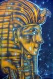 Väggmålning av egyptiska gudar Royaltyfri Fotografi