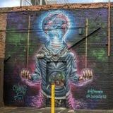 väggmålning 42 av Joe Skilz, djupa Ellum, Texas Royaltyfri Fotografi