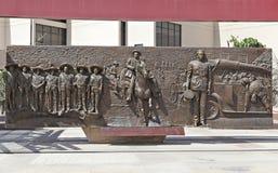 Väggmålning av liv och död av Pancho Villa Royaltyfria Bilder