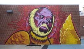 Väggmålning av Memphis Blues Legend Rufus Thomas på den Beale gatan royaltyfria bilder