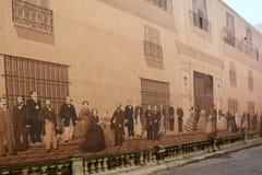 Väggmålning de Mercaderes Arkivfoton