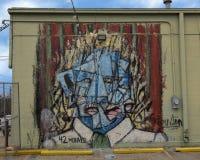 Väggmålning för Derealism ståendevägg av Matthew Brinston, djupa Ellum, Texas Fotografering för Bildbyråer