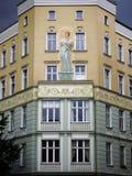 väggmålning för lägenhetberlin hus Royaltyfri Foto
