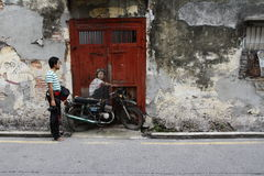 Väggmålning för Penang gatakonst Royaltyfri Foto