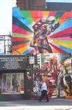 Väggmålning i Chelsea fotografering för bildbyråer