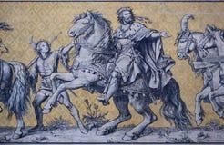 Väggmålning i Dresden Arkivfoto