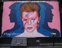 Väggmålning i minne av David Bowie i lilla Italien i Manhattan Royaltyfri Foto