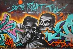 Väggmålning i minne av Eric Garner på östliga Williamsburg i Brooklyn Fotografering för Bildbyråer