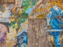 Väggmålning i Riomaggiore drevstation royaltyfria foton
