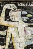 Väggmålning, Koh Phangan, Thailand arkivbild