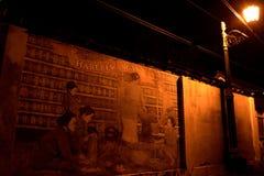 Väggmålning, Kotagede Yogyakarta Arkivfoto