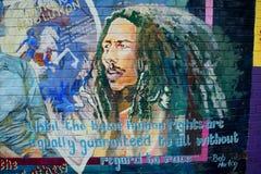 Väggmålning med Bob Marley, Belfast som är nordlig - Irland fotografering för bildbyråer