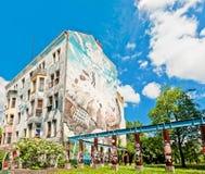 Väggmålning på byggnad i Berlin Royaltyfri Bild