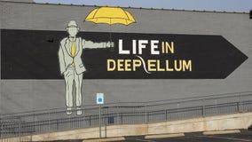 Väggmålning på den kulturella mitten i djupa Ellum Fotografering för Bildbyråer