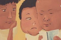 väggmålningar Arkivfoto