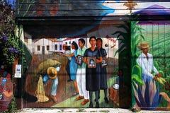 Väggmålningar av den Balmy gränden, San Francisco, Kalifornien, USA Royaltyfria Foton