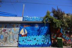 Väggmålningar av den Balmy gränden, San Francisco, Kalifornien, USA Arkivfoto