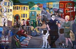 Väggmålningar av den Balmy gränden, San Francisco, Kalifornien, USA Royaltyfri Bild