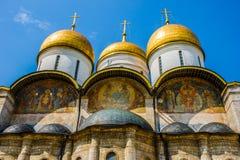 Väggmålningar av domkyrkan av Dormitionen av Kreml Royaltyfria Bilder