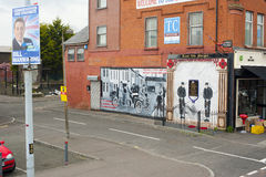 Väggmålningar i Belfast Royaltyfri Fotografi
