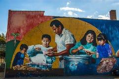 Väggmålningar i Pilsen, Chicago Arkivfoto