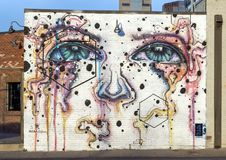42 väggmålningar projekterar väggmålningen av Collin Salazar, djupa Ellum, Texas Fotografering för Bildbyråer