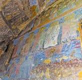 Väggmålningarna av Vardzia Arkivfoto