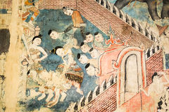 Väggmålningen är äldre än 120 år Royaltyfria Bilder