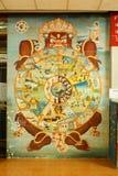Väggmålningen Arkivfoto