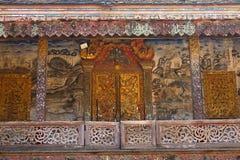 Väggmålningen av Wat Chang Khong Arkivfoton