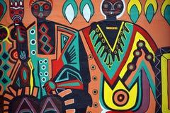 Väggmålningen berättar berättelsen av Swakopmund Royaltyfria Foton