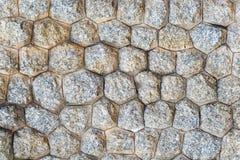 Väggmurverk med fasetterad stentextur Royaltyfria Foton