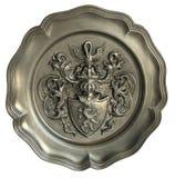 Väggplatta med vapenskölden Royaltyfri Fotografi