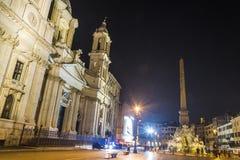 Väggspringbrunn i Rome (den Navona fyrkanten) Royaltyfri Foto